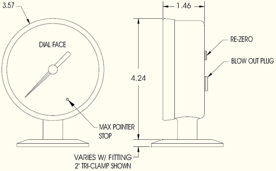 EL-Pressure-Gauge-Dimensions