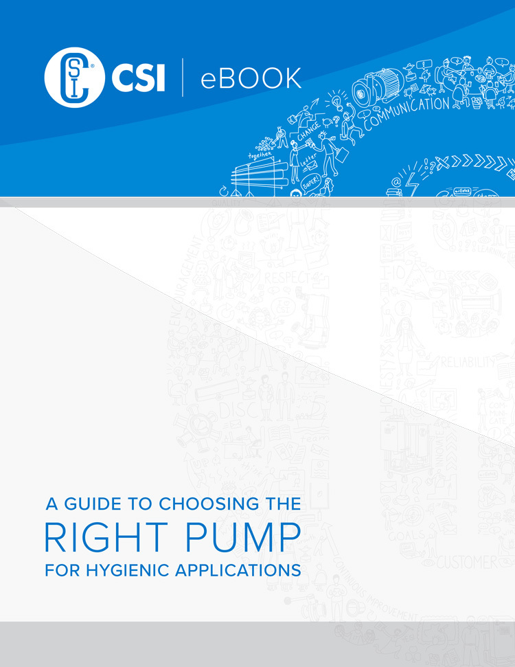 Guide to choosing the right pump for hygienic applications e Book cover