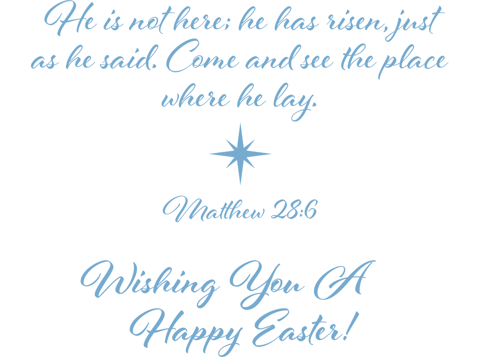 Easter 2019 Message