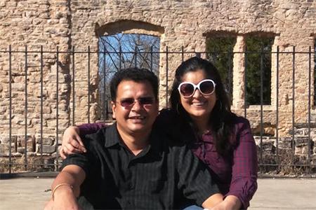 Yogini Dhopade and her husband Hrishi Jatkar